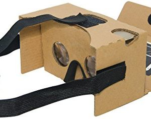 Google Cardboard Kit V2 por MINKANAK Gran Lente Gafas De Realidad Virtual 3D De Cartón Con La Correa Para La Cabeza Nariz Almohadilla y NFC, Compatible Con 3-6inch Pantalla Smartphone De Apple y Android