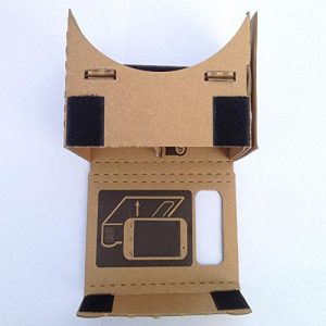 google cardboard vovotrade 6 pulgadas DIY Google cartón 3D VR Realidad Virtual Gafas de madera prensada