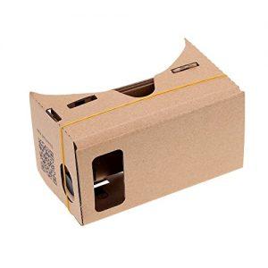 """Visor Gafas 3D de Cartón Realidad Virtual DIY 3D VR Cardboard Google para Smartphones de 4,2"""" a 5"""""""